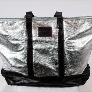 Victoria Secret Silver Overnight Tote Bag Large